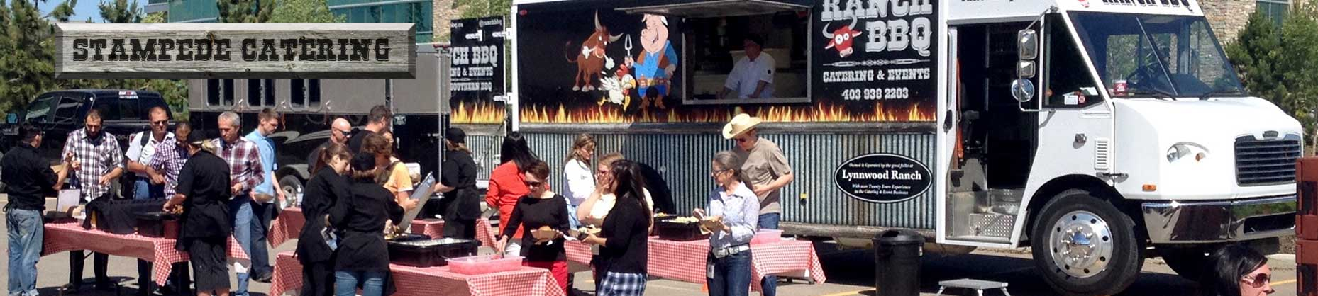 Calgary Catering Food Truck for Company Stampede BBQ party